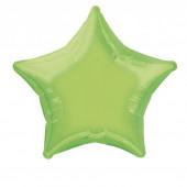 Balão Foil Estrela Verde Lima 51cm