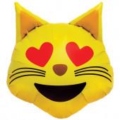 Balão Foil Gato Emoji 22