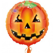 Balão Foil Halloween Abóbora 43cm