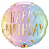 Balão Foil Happy Birthday 46cm