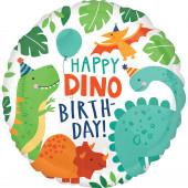 Balão Foil Happy Dino Birthday 43cm
