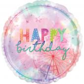 Balão Foil Jumbo Happy Birthday Girl Chella 71cm