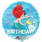 Balão Foil metálico com a Ariel Disney - 43cm