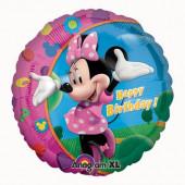 Balão Foil Metálico Happy Birthday Minnie