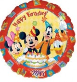 Balão Foil metálico Mickey Club House - 43cm