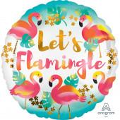Balão Foil  Metálico Standard Flamingos