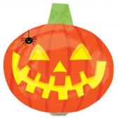 Balão Foil Mini Shape Abóbora com Aranha Halloween 35cm