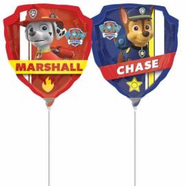 "Balão Foil Mini-Shape Chase e Marshall  9""-23cm"