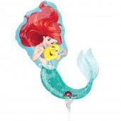 """Balão Foil Mini-Shape Pequena Sereia 9""""-23cm"""