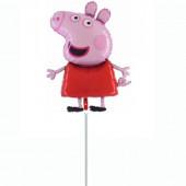 Balão Foil Mini Shape Porquinha Peppa