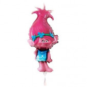 Balão Foil Mini Shape Trolls Poppy