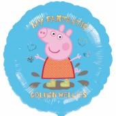Balão Foil Peppa de 45cm - My Fantastic Golden Wellies