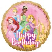 Balão Foil Princesas Happy Birthday 43cm