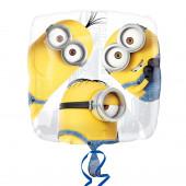 Balão Foil Quadrado Minions 43cm