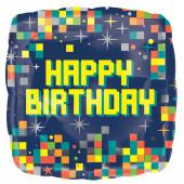 Balão Foil Quadrado Pixels