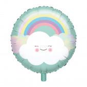 Balão Foil Rainbow & Cloud 43cm