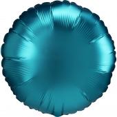Balão Foil Redondo Aqua Turquesa Acetinado 43cm