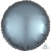 Balão Foil Redondo Azul Aço Acetinado 43cm