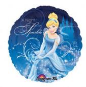 Balão Foil Redondo Cinderela Princesas Disney 43cm