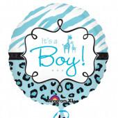 Balao Foil redondo Girafa Its a Boy