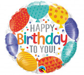 Balão Foil Redondo Happy Birthday to You 46cm