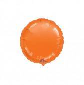 Balão Foil Redondo Laranja Metalizado 43cm