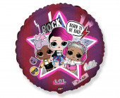 Balão Foil Redondo LOL Surprise Born to be Bad 46cm
