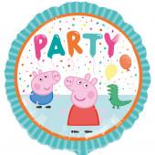 Balão Foil Redondo Porquinha Peppa Party 43cm