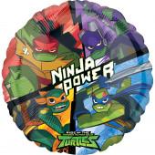 Balão Foil Redondo Tartarugas Ninja 43cm
