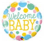 Balão Foil Redondo Welcome Baby 46cm