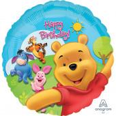 Balão Foil Redondo Winnie the Pooh 43cm