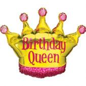 Balão Foil SuperShape Birthday Queen 91cm