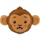 Balão Foil SuperShape Cabeça Macaco 91cm