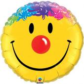 Balão Foil Supershape Smile Palhaço 91cm
