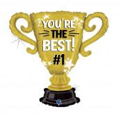Balão Foil Troféu You re the Best #1 84cm