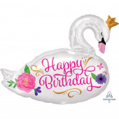 Balão Happy Birthday Cisne