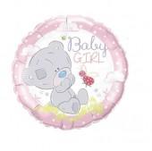 Balão metálico Ursinho - Baby Girl