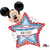 Balão Mickey Super Shape Foil 76cm Personalisável