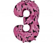 Balão Número 3 Minnie Disney
