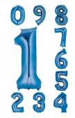 Balão Número Azul Air-Filled 40cm