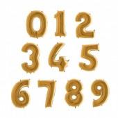 Balão Número Dourado 86cm