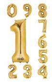 Balão Número Dourado Air-Filled 40cm