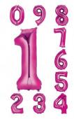 Balão Número Rosa Air-Filled 40cm