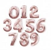 Balão Número Rosa Dourado 86cm