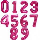 Balão Número Rosa Fúchsia 86cm