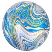 Balão Orbz Mármore Azul 38cm