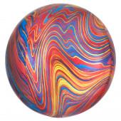Balão Orbz Mármore Colorido 38cm