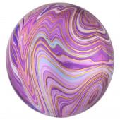 Balão Orbz Mármore Púrpura 38cm
