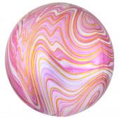 Balão Orbz Mármore Rosa 38cm