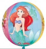 Balão Orbz metálico Ariel Disney - 40cm